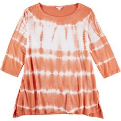 Plus Tie Dye 3/4 Sleeve Top