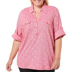 Coral Bay Plus Heathered Sailboat Roll Tab Top