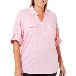 Coral Bay Plus Heathered Flamingo Roll Tab Top