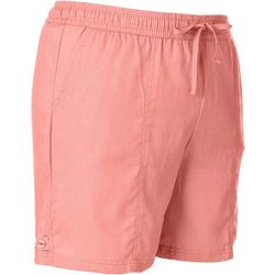Coral Bay Plus Solid Linen Drawstring Shorts