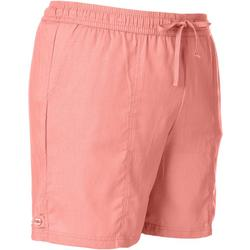 Plus Solid Linen Drawstring Shorts