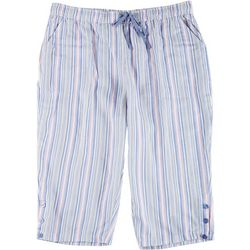 Coral Bay Plus Striped Linen Capris