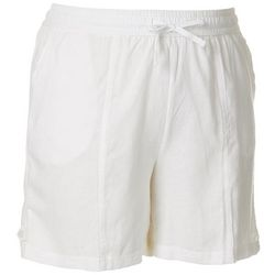 Coral Bay Plus Linen Drawstring Shorts
