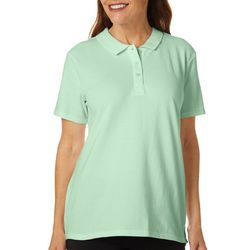 Coral Bay Plus Solid Short Sleeve Polo Shirt