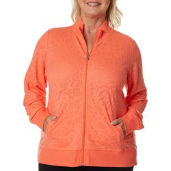 Coral Bay Energy Plus Burnout Animal Print Zip
