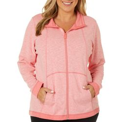 Coral Bay Plus Solid Heathered Jacket