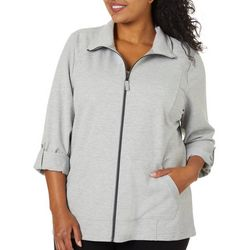 Coral Bay Energy Plus Solid Terry Zip Up Jacket