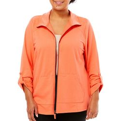 Coral Bay Energy Plus Solid Terry Zip Up