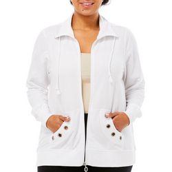 Coral Bay Plus Mock Embellished Grommet Jacket