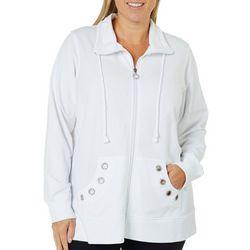 Coral Bay Plus Solid Grommet Pocket Jacket