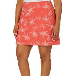 Coral Bay Energy Plus Palm Print Skort