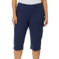 Coral Bay Energy Plus Dotted Geometric Skimmer Capris