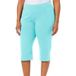 Coral Bay Plus Anchor Print Capris