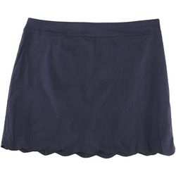 Coral Bay Plus Scalloped Solid Colored Skort