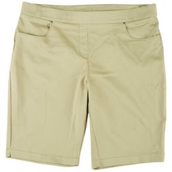 Womens Pull On Solid Shorts