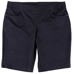 Coral Bay Womens Pull On Solid Shorts