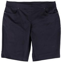 Plus Pull On Solid Shorts