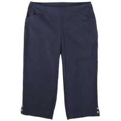 Coral Bay Plus Dual Pockets Solid Capris