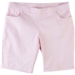 Coral Bay Plus Solid Design Pull On Shorts