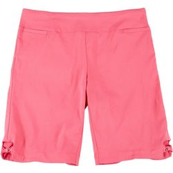 Coral Bay Plus Pull On Stretch Bow Hem Shorts