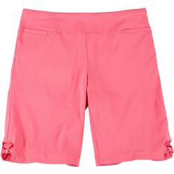 Plus Pull On Stretch Bow Hem Shorts