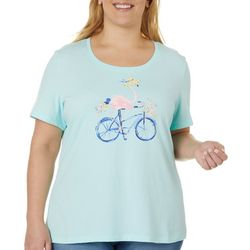 Coral Bay Plus Jeweled Flamingo Bicycle Top