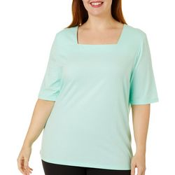 Coral Bay Plus Square Neck Solid Top