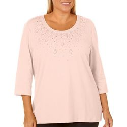 Coral Bay Plus Jewel Embellished Solid Top