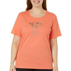 Plus Jeweled Palm Tree Trio Top