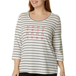 Coral Bay Plus Embroidered Hearts Top