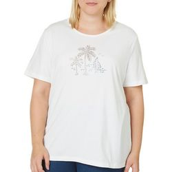 Coral Bay Plus Embellished Palm Tree & Boat Top