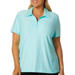 Coral Bay Energy Plus Geometric Short Sleeve Polo Shirt