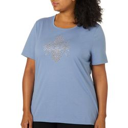 Coral Bay Plus Jeweled Swirling Medallion Top