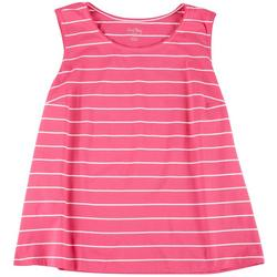 Plus Striped Scoop Neck Tank
