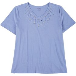 Coral Bay Plus V Neck Cascade Top