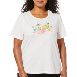 Coral Bay Plus Embellished Tropical Cocktails Top