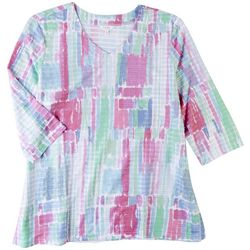 Coral Bay Plus Reflexions 3/4 Sleeve Top