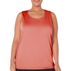 Plus Solid Scoop Neck Tank Top
