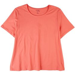 Coral Bay Plus So Basic Rounded Neck Top