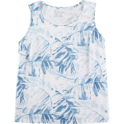 Coral Bay Plus Palm Tree Printed V-Neck Tank Top