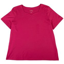 Coral Bay Plus Solid Sweetheart Top