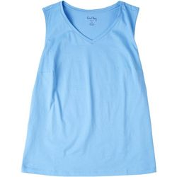 Coral Bay Plus Basic V-Neck Tank Top