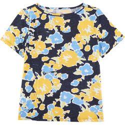 Coral Bay Plus Flowery Short Sleeve Top