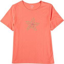 Coral Bay Plus Jewel Embellished Starfish Top