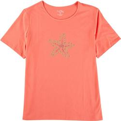 Plus Jewel Embellished Starfish Top