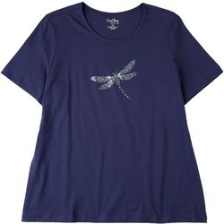 Coral Bay Plus Flying Critter Basic V-Neck T-Shirt