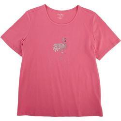 Plus Short Sleeve Flamingo Tee