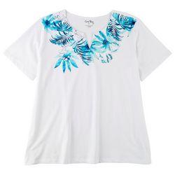 Coral Bay Plus Printed Split Neckline Top
