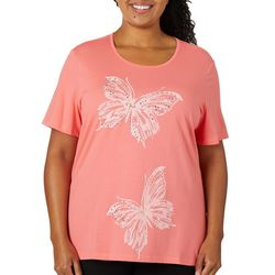 Coral Bay Plus Embellished Butterfly Couple Top