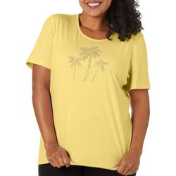 Coral Bay Plus Jeweled Palm Tree Trio Top
